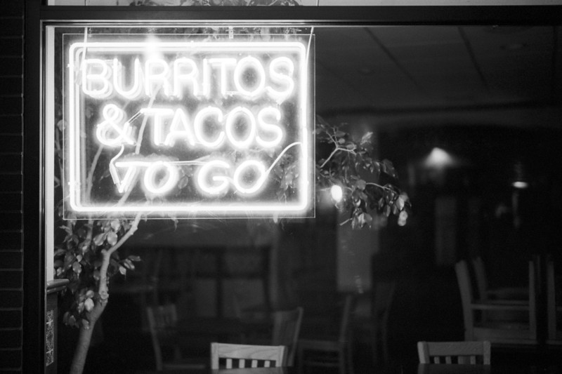 <b>Anna's Taqueria</b> - It doesn't really make a lot of sense that the sign for this local burrito place was an well after midnight.