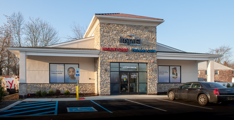 Interior and exterior images of Inspira Urgent Care Somerdale