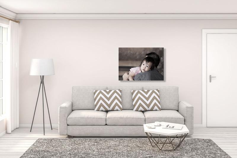 Living Room - Neutral Walls + Grey sofa Dad & Dtr