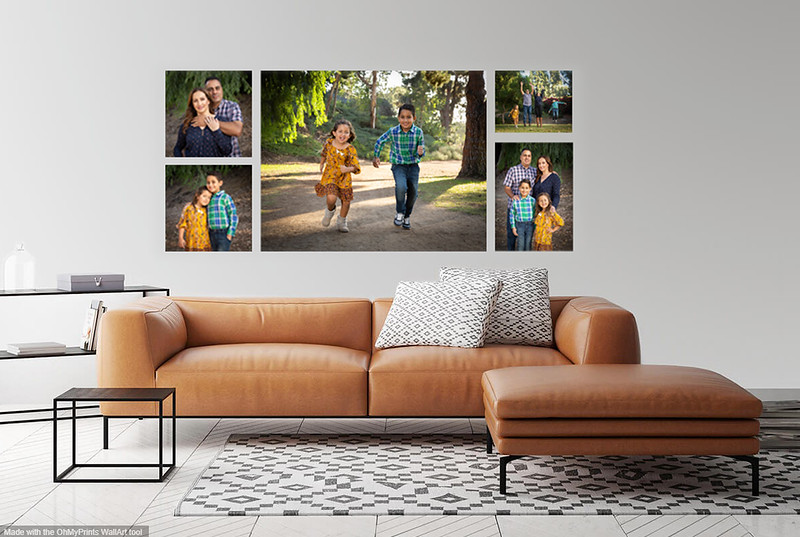 Mary Family Collage- Yellow Sofa