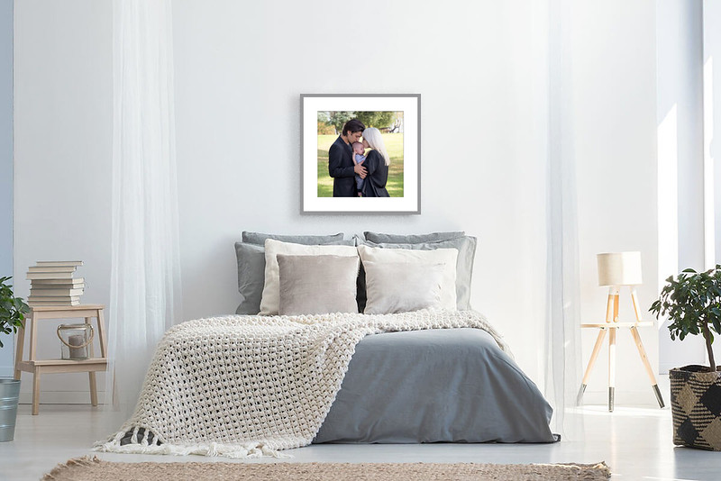 BR - Couple Baby - silver frame mat
