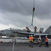 The Public Works Department Yokosuka, Japan, Transportation Department helped move a disabled F/A-18E Super Hornet from the USS Ronald Reagan (CVN 76) July 25 2018