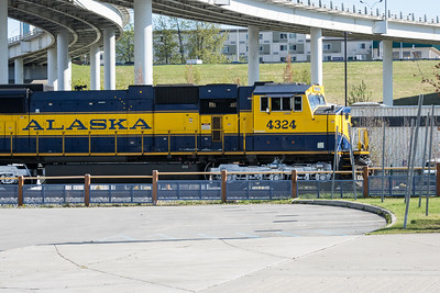 Wilderness Express entering Anchorage station.  Alaska Railroad, Alaska