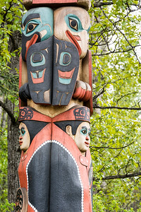 Totem  Alaska Native Heritage Center  Anchorage, Alaska
