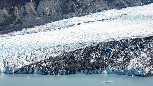 Spencer Glacier carries massive amounts of rock and silt to the sea.  Anchorage, Alaska