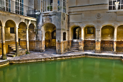 """Roman Baths  The city of Bath was first established as a spa with the Latin name, Aquae Sulis (""""the waters of Sulis"""") by the Romans sometime in the AD 60s about 20 years after they had arrived in Britain (AD43).  The temple was constructed in 60–70 AD and the bathing complex was gradually built up over the next 300 years.  The hot springs feeding the Bath are the only ones in the United Kingdom."""
