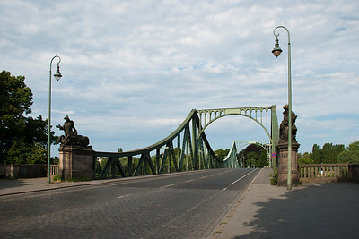 Glienicke Bridge (Spy Bridge)  Spanning the Havel River between Berlin and Potsdam, the bridge was used by the U.S. and the Soviets to exchange spies during the Cold War.  Berlin, Germany