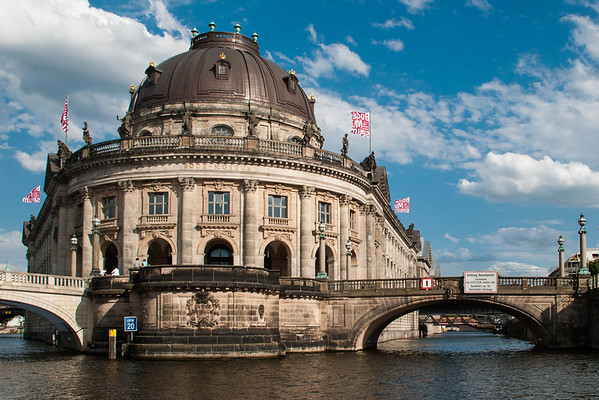 Bode Museum as seen from the River Spree.  Berlin, Germany