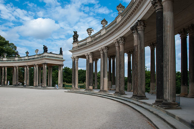 Sanssouci is the name of the former summer palace of Frederick the Great, King of Prussia, in Potsdam, near Berlin.  Potsdam, Germany