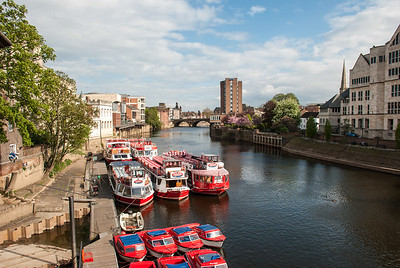 View of River Ouse from Lendal Bridge  York, England
