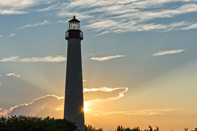 Cape May Lighthouse at sunset  Cape May Point State Park  Cape May, NJ