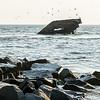 Concrete Shipwreck<br /> <br /> Sunset Beach<br /> <br /> Cape May, NJ