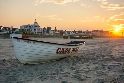 Cape May Beach at sunrise  Cape May, NJ