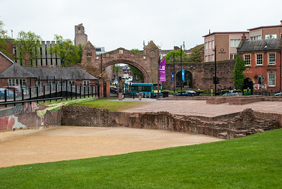Chester  Remnants of the Roman amphitheatre, which was built in the 1st century.  It could seat between 8,000 and 10,000 people.