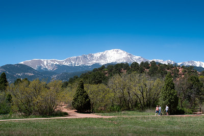 Pikes Peak  View from Garden of the Gods    Colorado