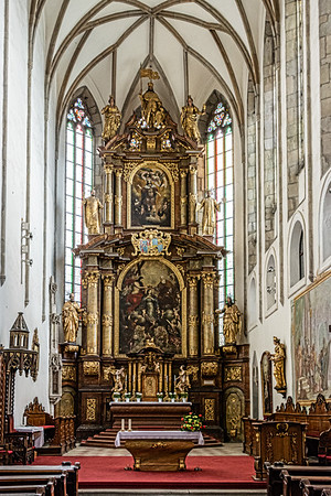 St. Vitus' Church  Cesky Krumlov Czech Republic