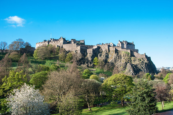 Edinburgh Castle  View from Princes Street Garden