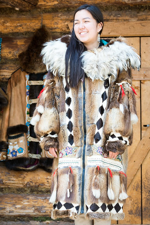 Native American Parka  Athabascan Indian Village  Fairbanks, Alaska