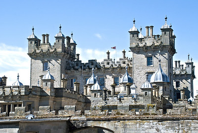 Floors Castle Roxburghe, Scotland  Built for the 1st Duke of Roxburghe in 1721.