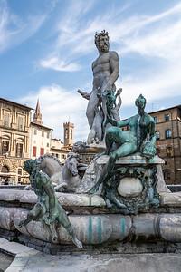 Neptune by Bartolomeo Ammannati Piazza della Signoria  Florence, Italy