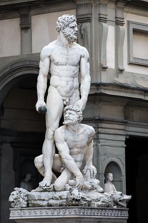 Hercules and Caccus by Baccio Bandinelli Piazza della Signoria  Florence, Italy