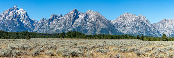 Grand Tetons from Jackson Hole  Grand Teton National Park