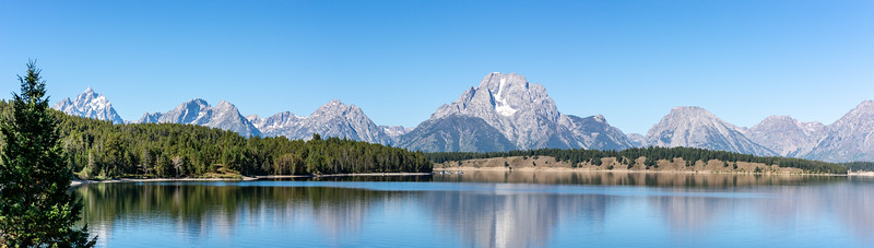 Grand Tetons from Jackson Lake  Grand Teton National Park