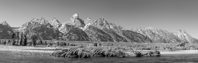 View of Grand Tetons from Snake River  Grand Teton National Park