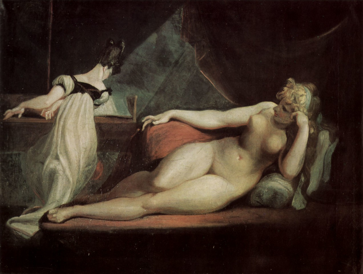 Reclining Nude And Piano Teacher