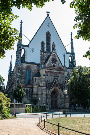 St. Thomas Church (Thomaskirche)  In 1539, Martin Luther preached the implementation of the Reformation here.  It is the final resting place of St. Thomas Cantor, Johann Sebastian Bach.  Leipzig, Germany