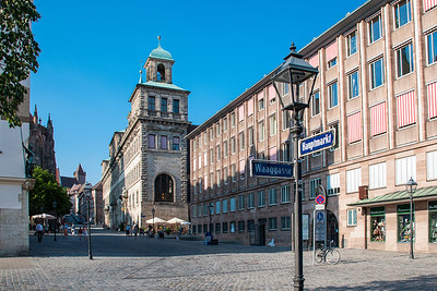 Old Town Hall in the city's square  Nuremberg, Germany