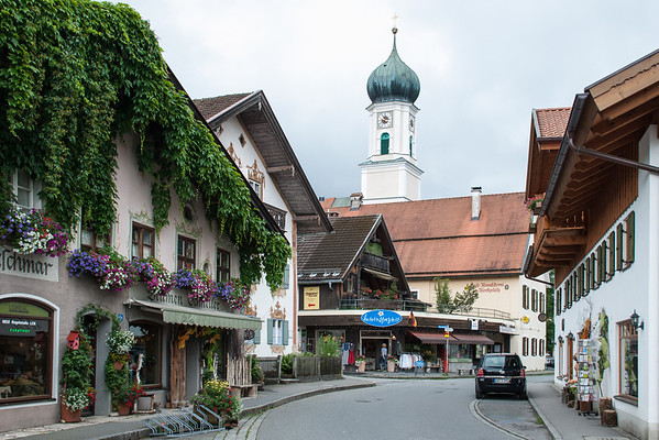 Downtown Oberammergau  Oberammergau, Germany