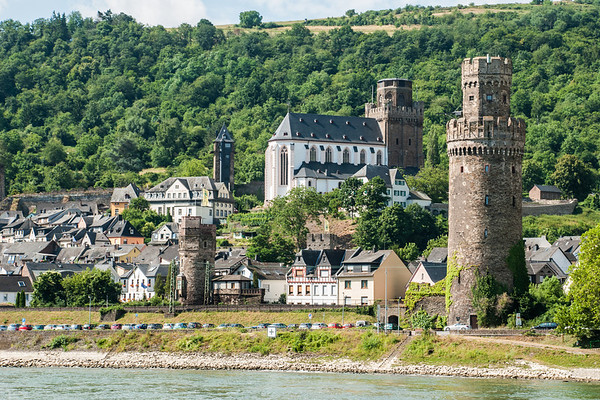 Oberwesel on the Rhine River  Germany