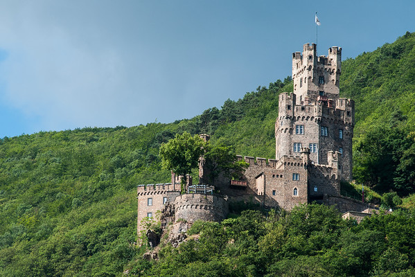 Sooneck Castle overlooking the Rhine River  Germany