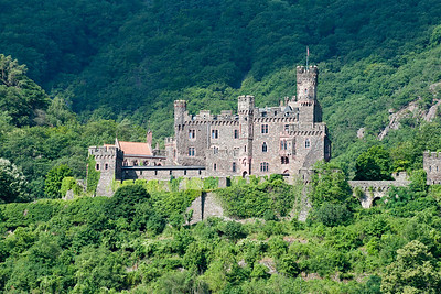 Reichenstein Castle on the Rhine River  Germany