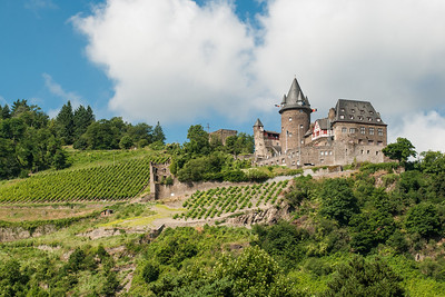 Stahleck Castle on the Rhine River  Germany