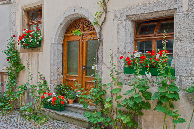 Rothenburg Doorway<br /> <br /> Rothenburg, Germany