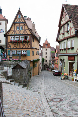 Rothenburg Plonlein (original town square).  Rothenberg, Germany