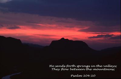 Psalm 104:10 photographed along the Texas-Mexico near Lajitias, TX