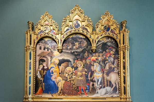 Uffizzi Gallery Gentile da Fabriano's Adoration of the Magi  Florence, Italy