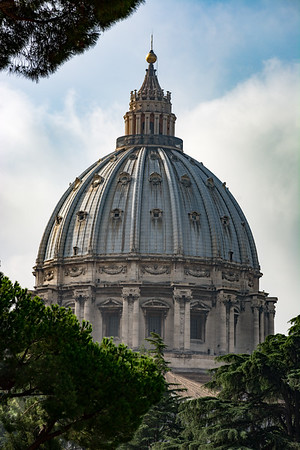 St. Peter's Basilica from the Vatican Museum  Rome, Italy