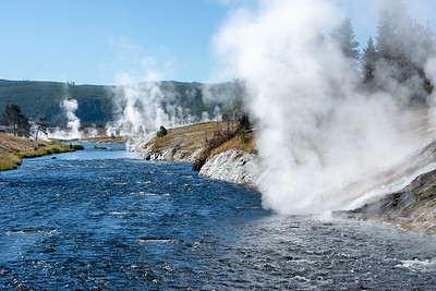 Firehole River  Midway Geyser Basin Yellowstone National Park
