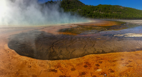 Grand Prismatic Spring  Midway Geyser Basin Yellowstone National Park