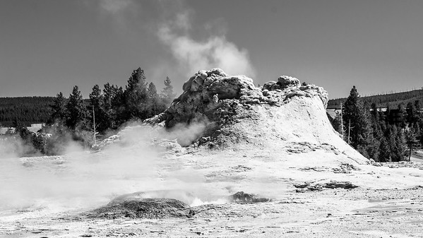 Castle Geyser  Upper Geyser Basin Yellowstone National Park