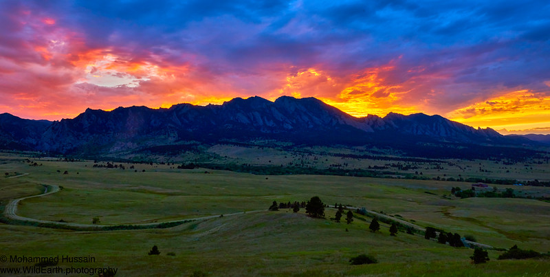Flatirons Sunset - Boulder, CO