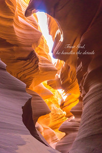Antelope Canyon Sunbeam