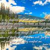 Lord is my sheppard Psalm 23 1-4 NIV bull lake reflections