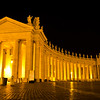 St Peter's Square at Night, Vatican City
