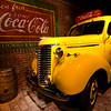An Old Vintage Car at Coca Cola Museum