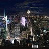 Dark Moonlight over New York City